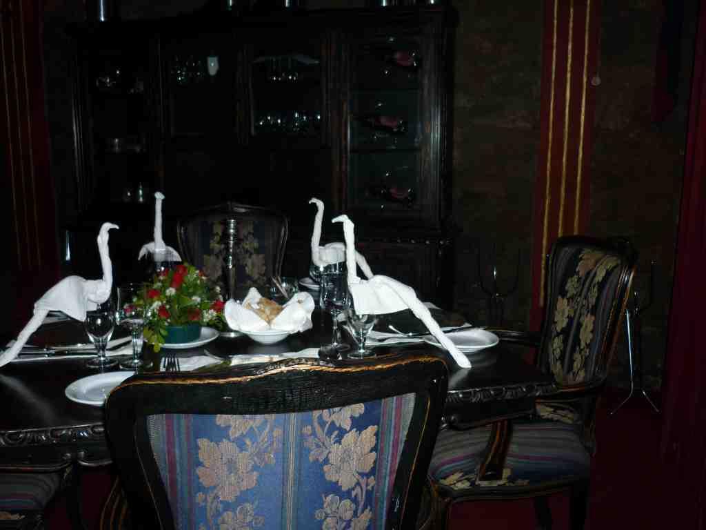 Nesbitt Castle table setting