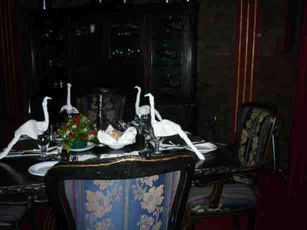Nesbitt Castle table setting