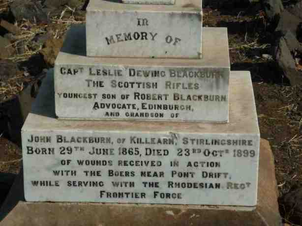 Captain Leslie Dewing Blackburn Fort Tuli
