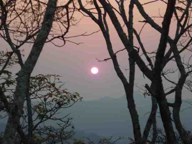 Hwdeza Mountain haze sunset