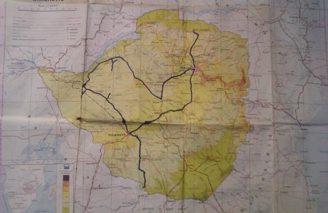 Map Zimbabwe