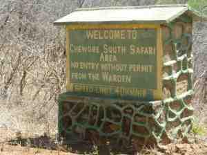 Chewore Sign